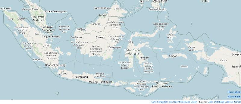 Indonesien-Karte